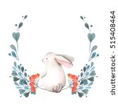 illustration  wreath with... | Shutterstock . vector #515408464