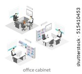 isometric interior of director... | Shutterstock . vector #515410453