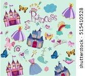 children's background with... | Shutterstock .eps vector #515410528
