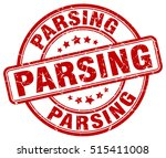 parsing stamp.  red round... | Shutterstock .eps vector #515411008