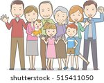 healthy family 4 generations  | Shutterstock .eps vector #515411050