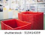 shopping basket blur interior... | Shutterstock . vector #515414359