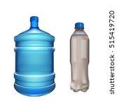 pair water bottles   Shutterstock .eps vector #515419720