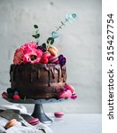 Wedding Cake With Flowers...