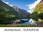 scenic norwegian fjord... | Shutterstock . vector #515429518
