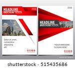 red modern elegance annual... | Shutterstock .eps vector #515435686