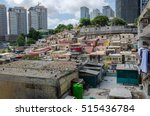colorful houses of the poor... | Shutterstock . vector #515436784