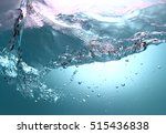 blue water and air bubbles    Shutterstock . vector #515436838