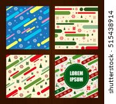 set of christmas backgrounds in ... | Shutterstock .eps vector #515438914