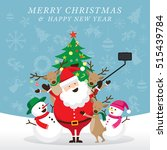 christmas  santa claus and... | Shutterstock .eps vector #515439784