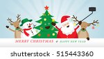 christmas  santa claus and... | Shutterstock .eps vector #515443360