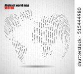 abstract world globe of binary...   Shutterstock .eps vector #515444980