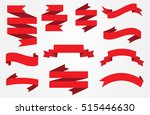 ribbon banner set.vector red... | Shutterstock .eps vector #515446630