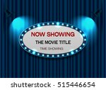 theater sign elip on curtain... | Shutterstock .eps vector #515446654