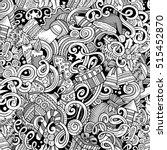 cartoon cute doodles new year... | Shutterstock .eps vector #515452870