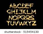 golden metallic shiny letters... | Shutterstock .eps vector #515454130