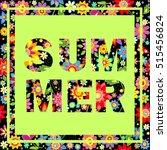 flowers colorful  wallpaper... | Shutterstock .eps vector #515456824