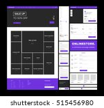 e commerce website design... | Shutterstock .eps vector #515456980