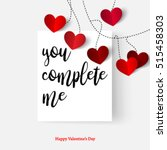 sweet quote with hearts for... | Shutterstock .eps vector #515458303