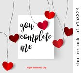 sweet quote with hearts for... | Shutterstock .eps vector #515458324