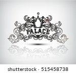 monogram engraving design... | Shutterstock .eps vector #515458738