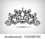 monogram engraving design... | Shutterstock .eps vector #515458750