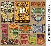 vector vintage items  label art ... | Shutterstock .eps vector #515464570