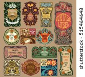 vector vintage items  label art ... | Shutterstock .eps vector #515464648