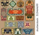 vector vintage items  label art ... | Shutterstock .eps vector #515464699