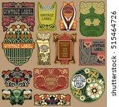vector vintage items  label art ... | Shutterstock .eps vector #515464726