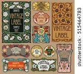 vector vintage items  label art ... | Shutterstock .eps vector #515464783