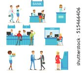bank service professionals and... | Shutterstock .eps vector #515466406