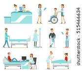 injured and sick patients in... | Shutterstock .eps vector #515466634