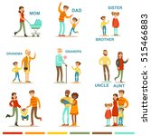 happy large family with all the ... | Shutterstock .eps vector #515466883