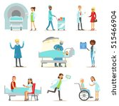 injured and sick patients in... | Shutterstock .eps vector #515466904