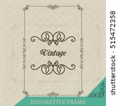 classic frame template. vector... | Shutterstock .eps vector #515472358