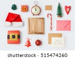 christmas decorations and... | Shutterstock . vector #515474260
