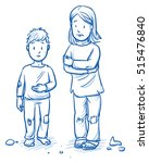 poor orphans or refugee... | Shutterstock .eps vector #515476840