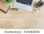 office desk table with laptop ... | Shutterstock . vector #515482030