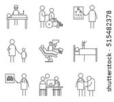 set of simple medicine icons ... | Shutterstock .eps vector #515482378