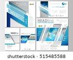 social media posts set.... | Shutterstock .eps vector #515485588