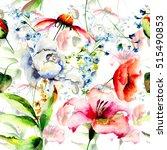 floral seamless pattern ...   Shutterstock . vector #515490853