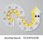 abstract 10 steps infographis... | Shutterstock .eps vector #515494258