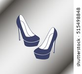 high heel shoes icon. | Shutterstock .eps vector #515498848