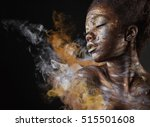 young african american woman... | Shutterstock . vector #515501608