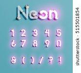 realistic neon character... | Shutterstock .eps vector #515501854
