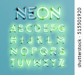 realistic neon character... | Shutterstock .eps vector #515501920