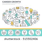 career growth concept... | Shutterstock .eps vector #515502406