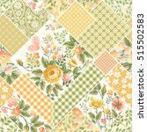 seamless patchwork floral... | Shutterstock .eps vector #515502583