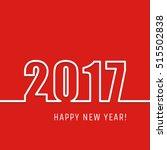 2017 happy new year outline... | Shutterstock .eps vector #515502838